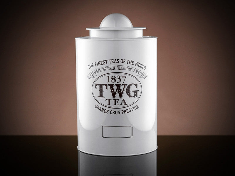 TWG Tea Saturn Tea Tin in White (1kg)