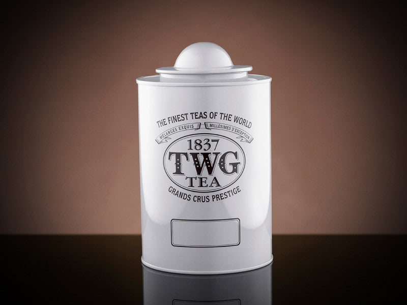 TWG Tea Saturn Tea Tin in White (250g)