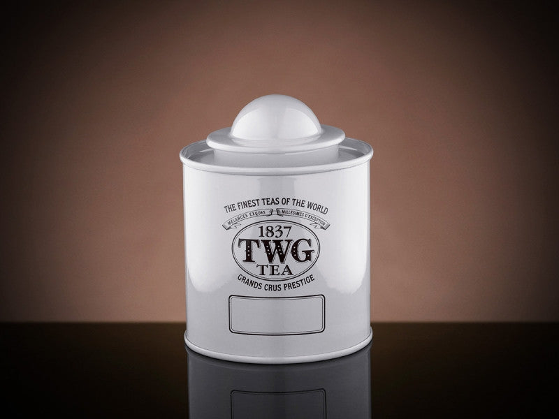 TWG Tea Saturn Tea Tin in White (50g)