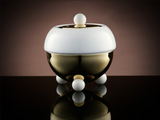 TWG Tea Design Sugar Bowl in White and Gold