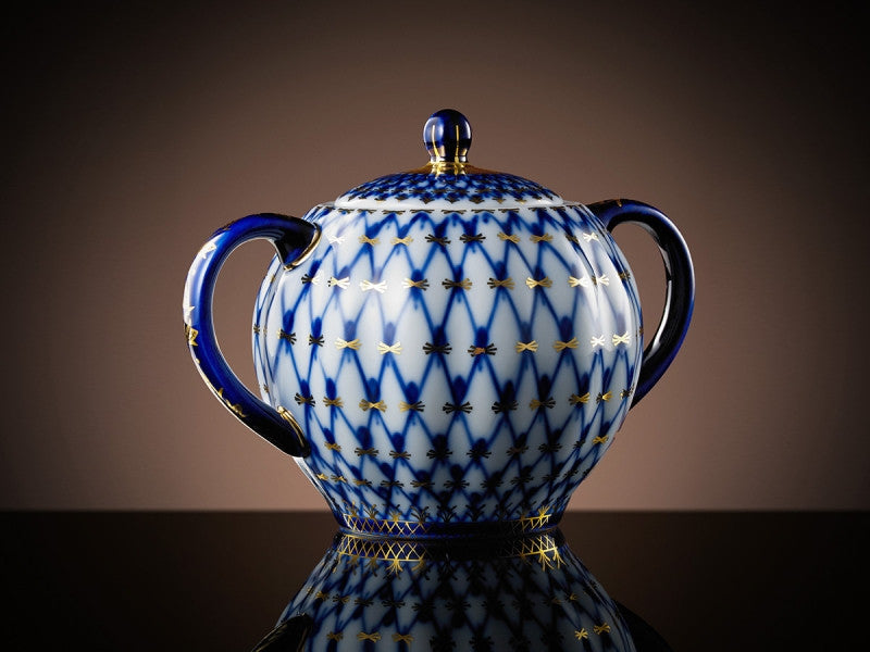 TWG Tea Tsarina Sugar Bowl in Cobalt (450ml)