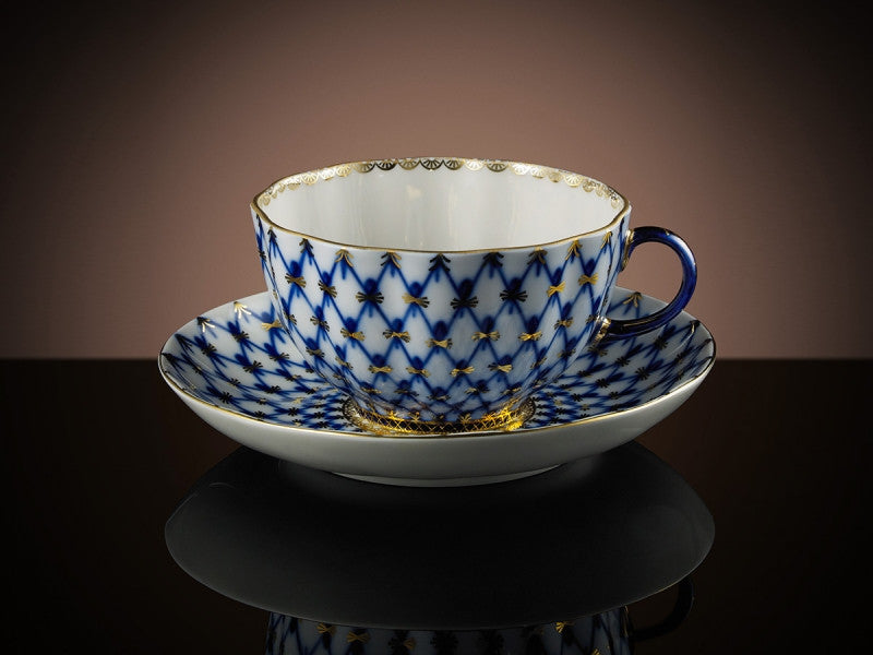 TWG Tea Tsarina Teacup & Saucer in Cobalt