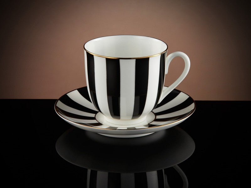 TWG Tea Vogue Teacup & Saucer in Black