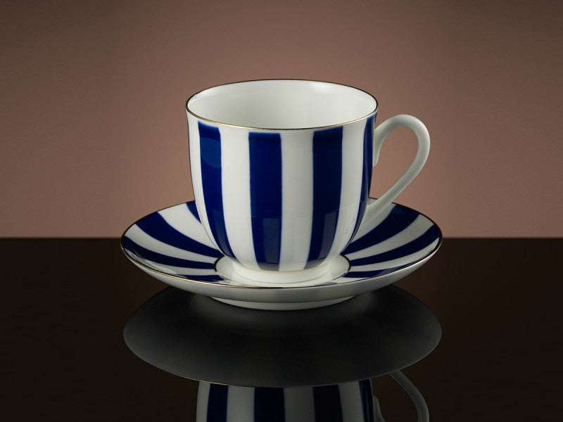 TWG Tea Vogue Teacup & Saucer in Cobalt