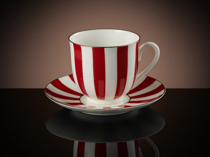 TWG Tea Vogue Teacup & Saucer in Red