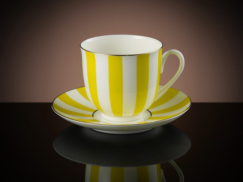 Vogue Teacup & Saucer in Yellow