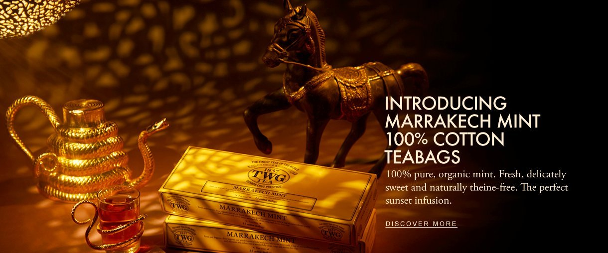 TWG Tea Fashions the world most luxurious Iced Teabag Collection.
