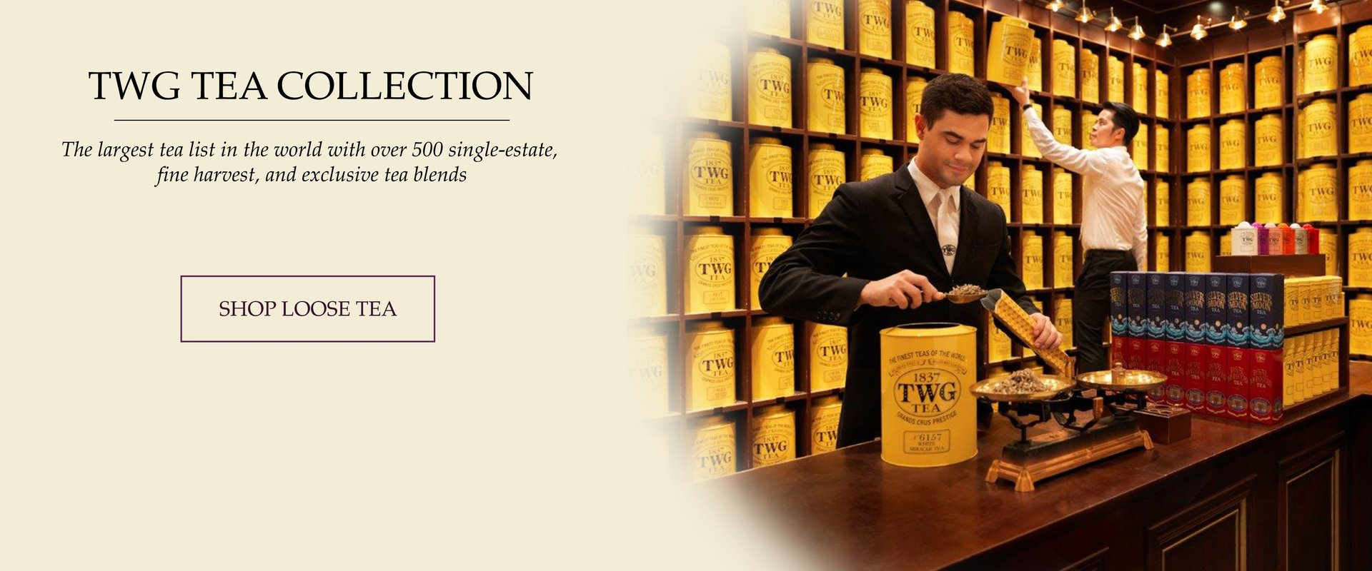 TWG Tea Salon & Boutique in Vancouver, serving afternoon tea, dinner, lunch, breakfast.