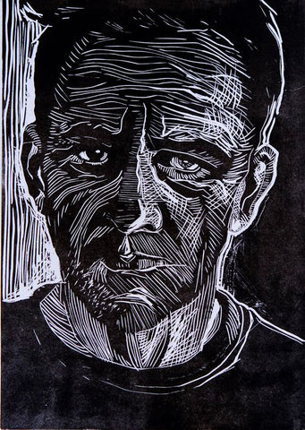 Linocut Self Portraits