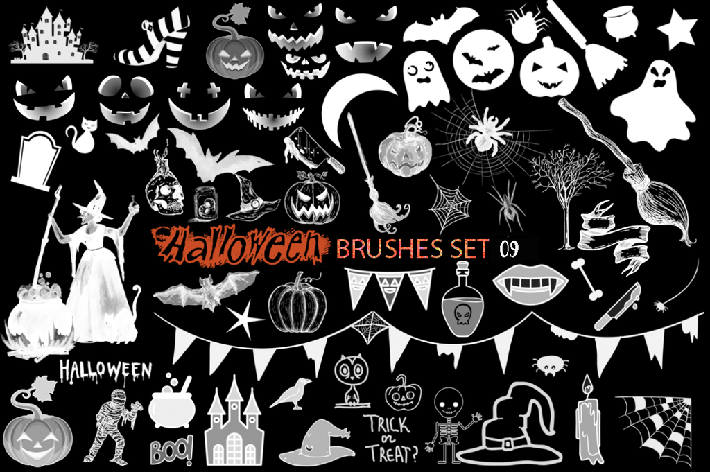 Halloween Brushes Set 09