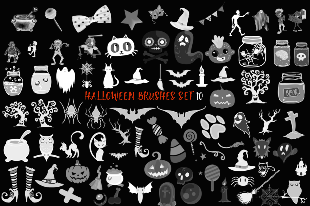Halloween Brushes Set 10