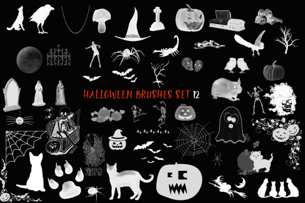 Halloween Brushes set 12