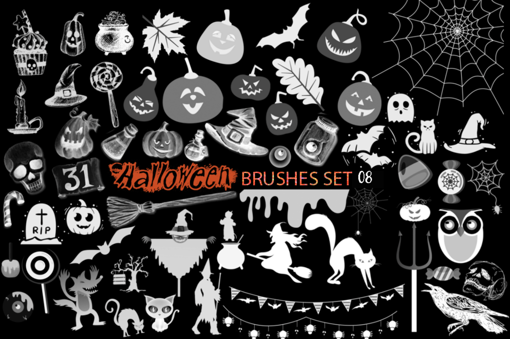 Halloween Brushes Set 08