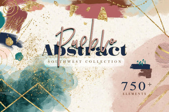 Abstract Shapes Watercolor Art set - Photohack Lovers