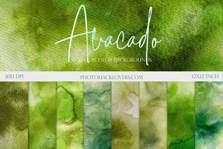 Green Watercolor Backgrounds - Photohack Lovers