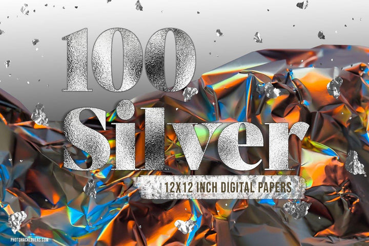 Silver Foil and Glitter Textures - Photohack Lovers
