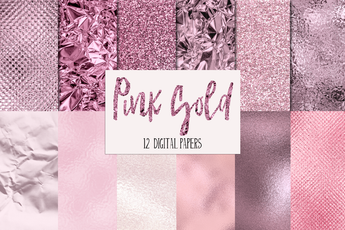12 Pink Gold Textures - Photohack Lovers