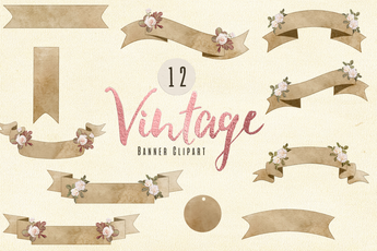 Vintage Banner Clip art - Photohack Lovers