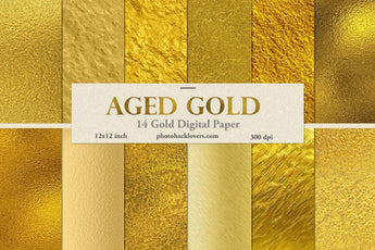 Aged Gold Digital Paper - Photohack Lovers