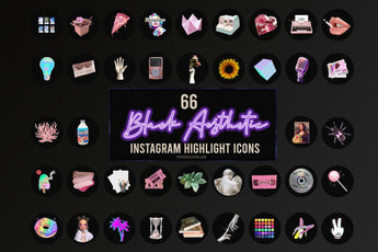 Black Aesthetic Instagram Highlight Icons - Photohack Lovers