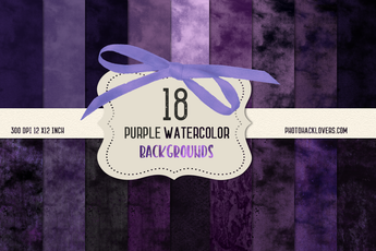 Purple Watercolor Backgrounds - Photohack Lovers