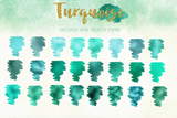 25 Turquoise Foil Digital Paper - Photohack Lovers