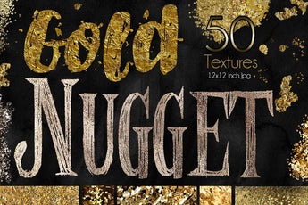 50 Gold Foil TEXTURES & BACKGROUNDS