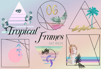 Aesthetic Summer Clipart Frames - Photohack Lovers