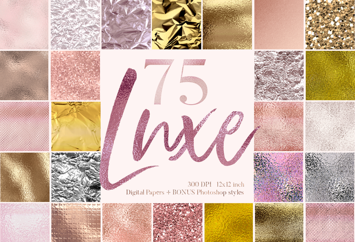 75 Luxe digital papers - Photohack Lovers