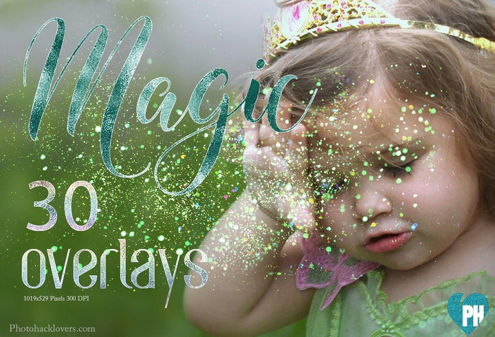 Glitter overlay- Magic Glitter Overlays