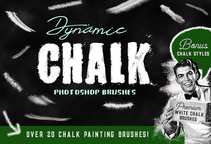 Chalk Brushes and Chalk Styles for Photoshop - Photohack Lovers