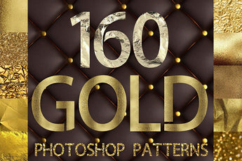 100 Photoshop GOLD PATTERNS, Photoshop styles