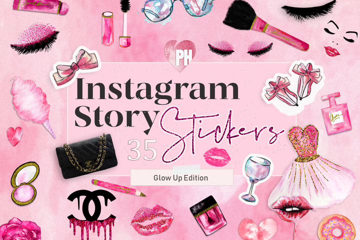 Pink Instagram Stickers For Stories - Photohack Lovers