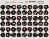 Black Marble Rose Gold Instagram Icons - Photohack Lovers