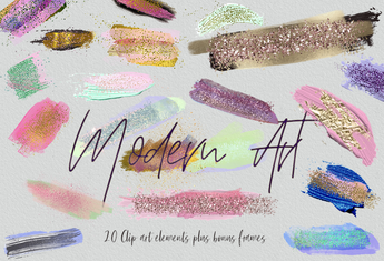 Modern Art Brush Strokes - Photohack Lovers