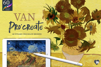 80 Paint Like Van Gogh Dynamic Procreate brushes - Photohack Lovers
