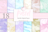 Pastel Marble Digital paper - Photohack Lovers