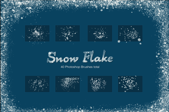 Realistic Snow Flake Brushes