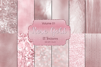 Rose Gold Vol 01 Textures - Photohack Lovers