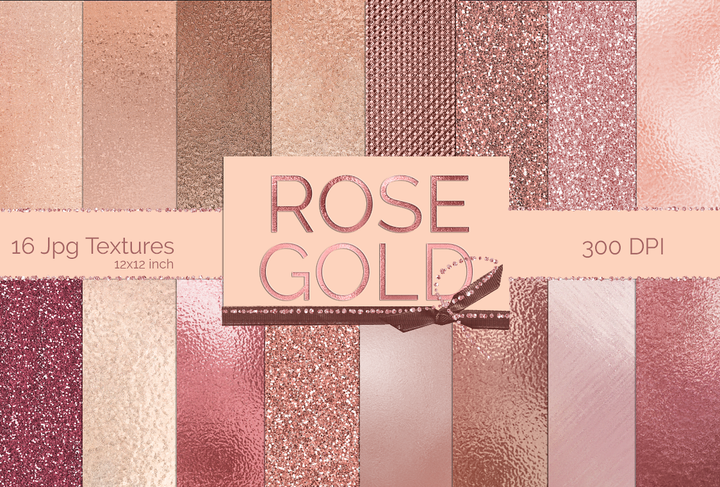Rose Gold Metallic Textures - Photohack Lovers
