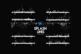 Water Splash Lines PSD