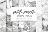 White Marble Digital Paper - Photohack Lovers