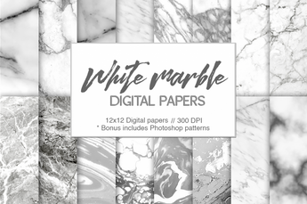 White Marble Digital Paper
