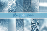 Baby blue Digital Paper - Photohack Lovers
