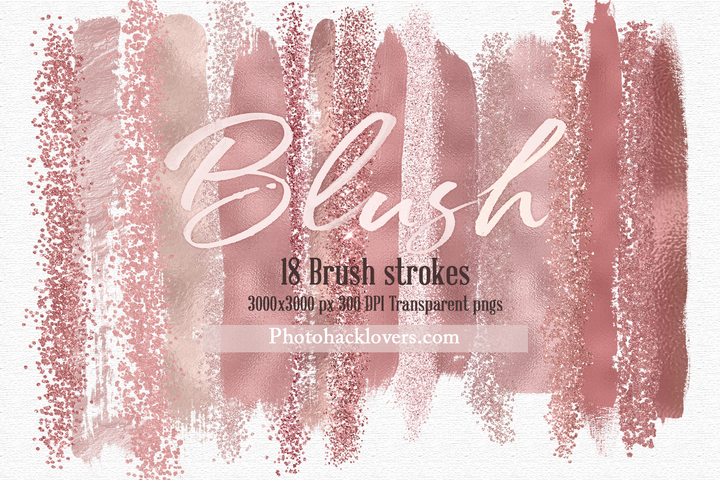 18 blush brush strokes