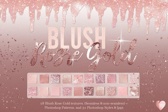 Blush Rose Gold Textures - Photohack Lovers