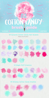 100 Cotton Candy Photoshop Brushes - Photohack Lovers