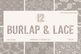 Burlap and Lace Digital Paper - Photohack Lovers