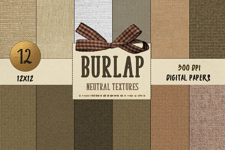 Burlap Neutral Digital Paper - Photohack Lovers