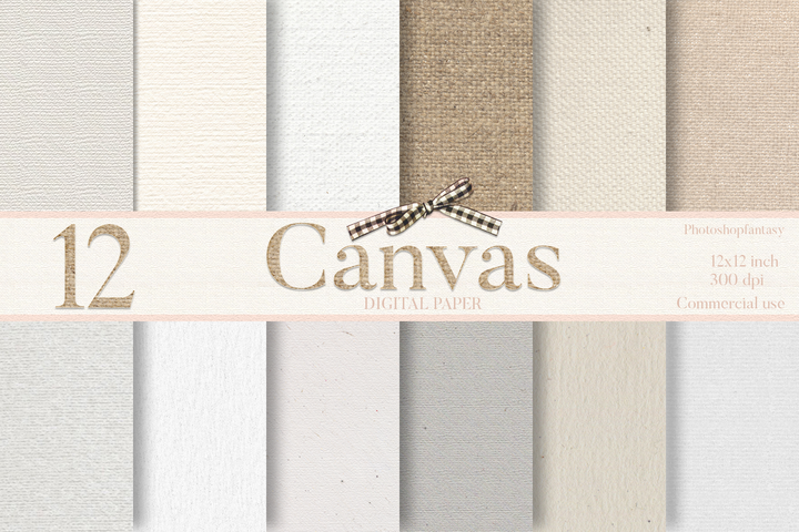 Canvas Texture Digital Paper - Photohack Lovers